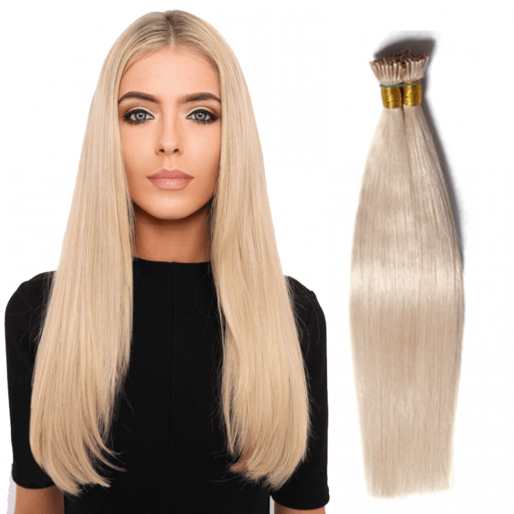 I Tip 50g Bouncy Straight 100% Human Hair Extension