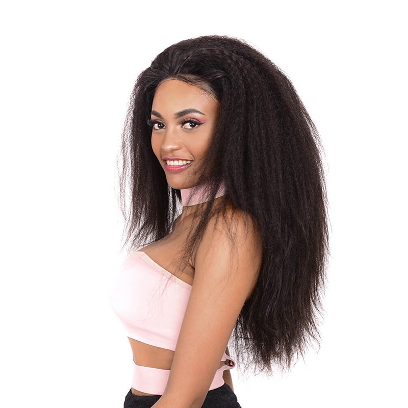 DSoar Hair Pre Plucked 360 Lace Wig Kinky Straight Human Hair Wig