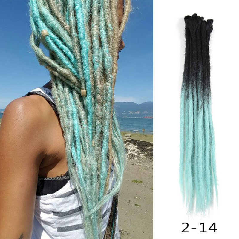 Black/Light Blue Synthetic Dreadlock