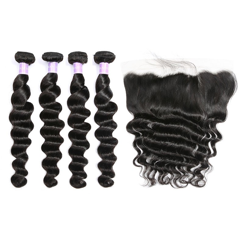 hair bundles with lace frontal