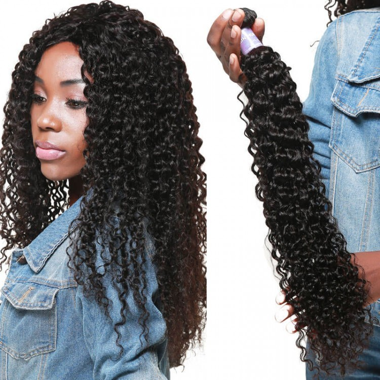 DSoar Malaysian Hair Curly Weave Human Hair 4 Bundles Natural Hair Weave