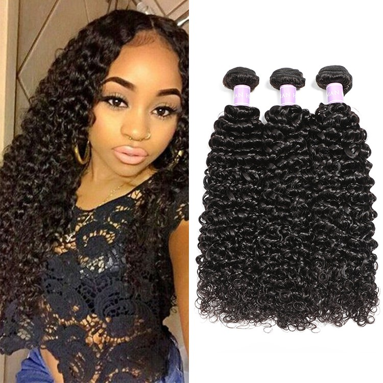 DSoar Hair Malaysian Curly Hair Weave 3 Bundles
