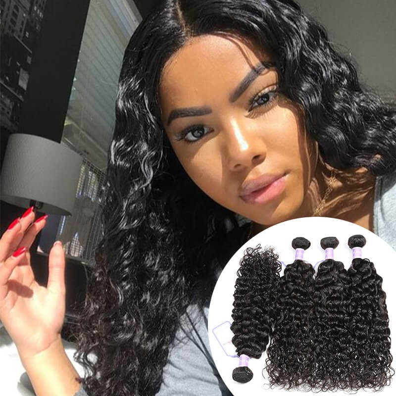 natural wave Brazilian hair 4 bundles