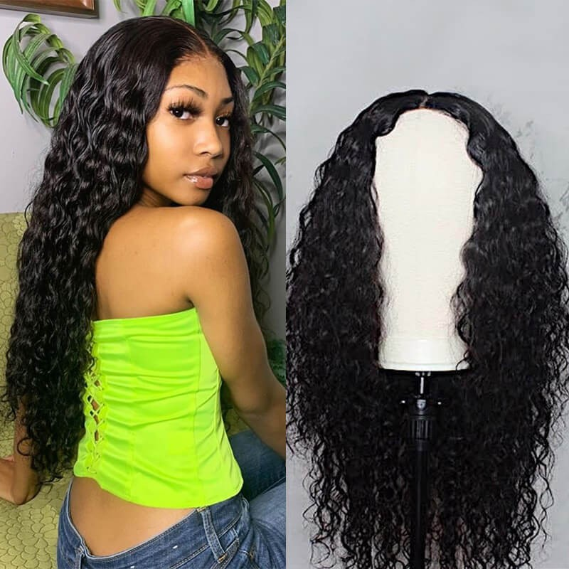 natural wave human hair weave wig