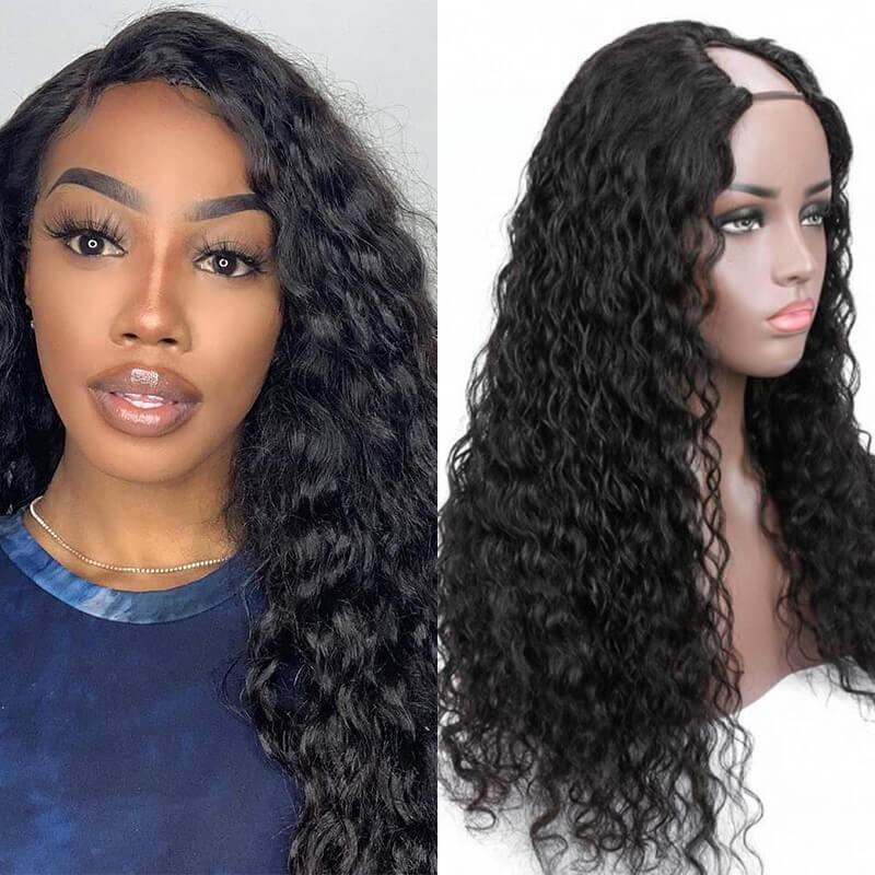 Dsoar Hair Natural Wave Part U Part Wig 130%-180% Density Glueless Human Hair Wig