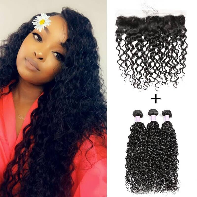 Peruvian Natural Wave Weave DSoar Hair 3 Bundles And Lace Frontal 13x4