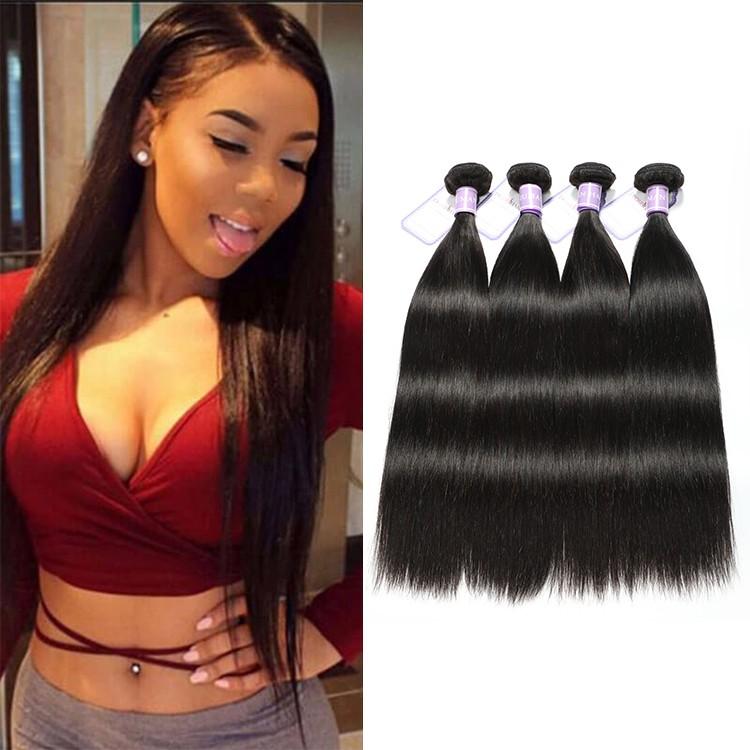 4 Bundles DSoar Hair Peruvian Straight Virgin Human Hair Extensions