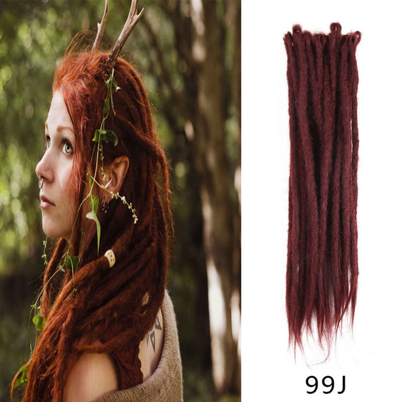 99J Synthetic Dreadlocks Extensions Handmade