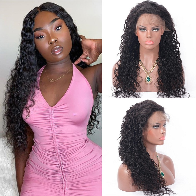 DSoar Hair Water Wave Wigs With Baby Hair Full Lace Human Hair wigs