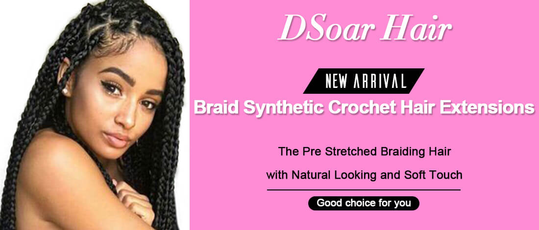 Dsoar hair braid synthetic crochet hair extensions