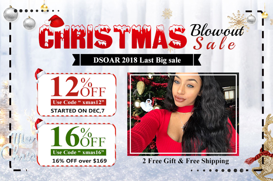 human hair Christmas sale 2018