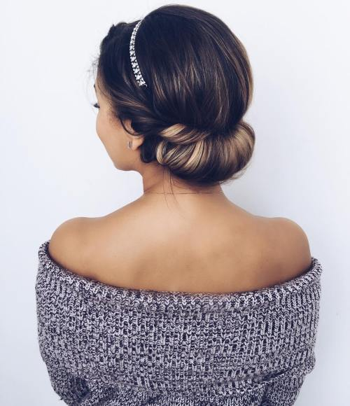 headband tuck updo