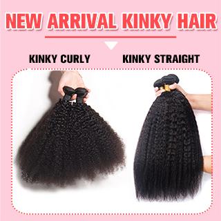 kinky straight hair weave