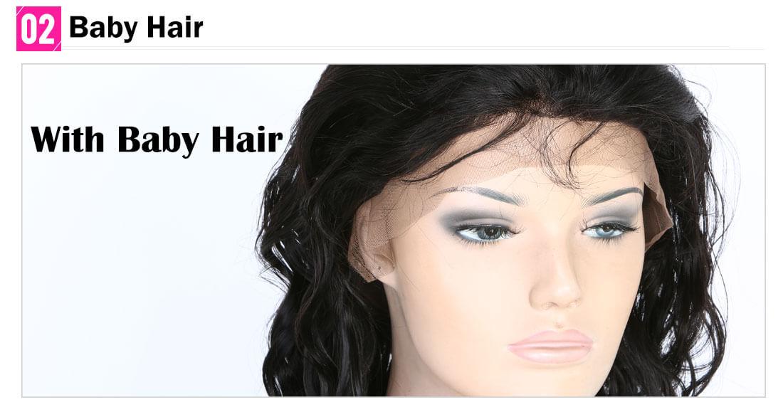 Natural Wave Virgin Human Hair Full Lace Wig