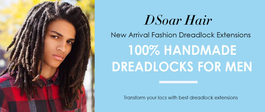 DSoar Fake Dreadlocks Synthetic Hair For Men