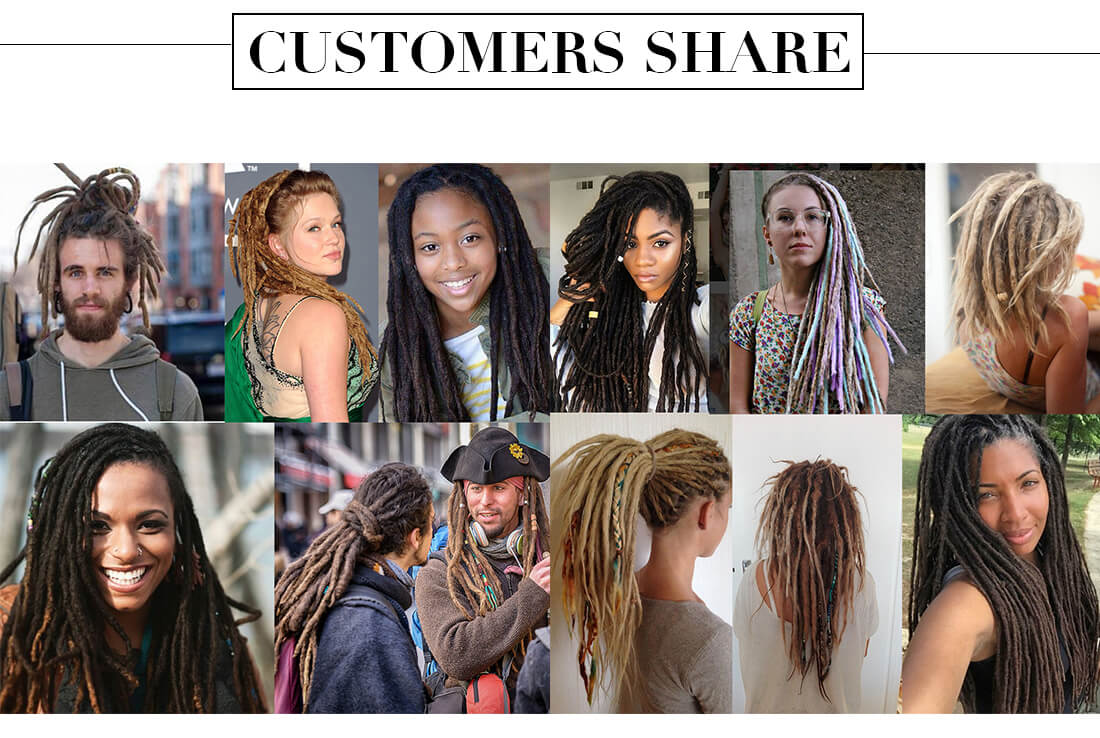 Synthetic Hair 15 Inch Color 33# Dreadlocks Extensions