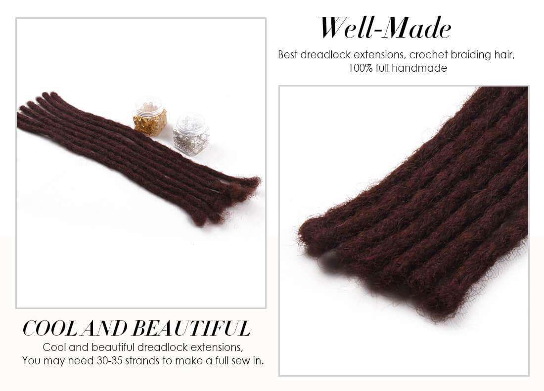 DSoar Soft Dread Crochet Hair Dreadlocks Extensions