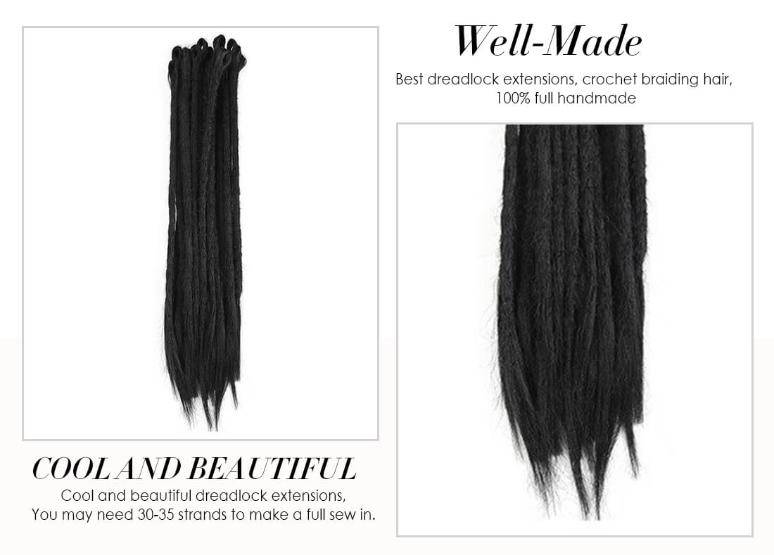 1# Straight Synthetic Dreadlocks Extensions