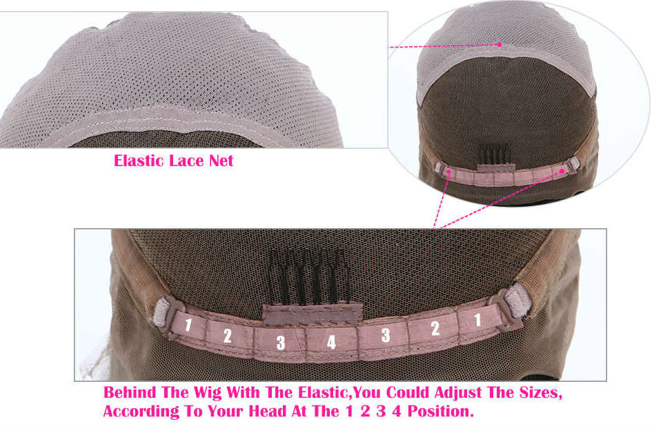 Adjustable lace front wigs cap