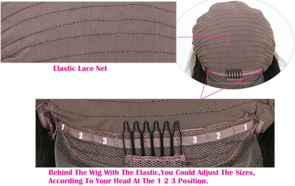 Adjustable transparent lace wig cap