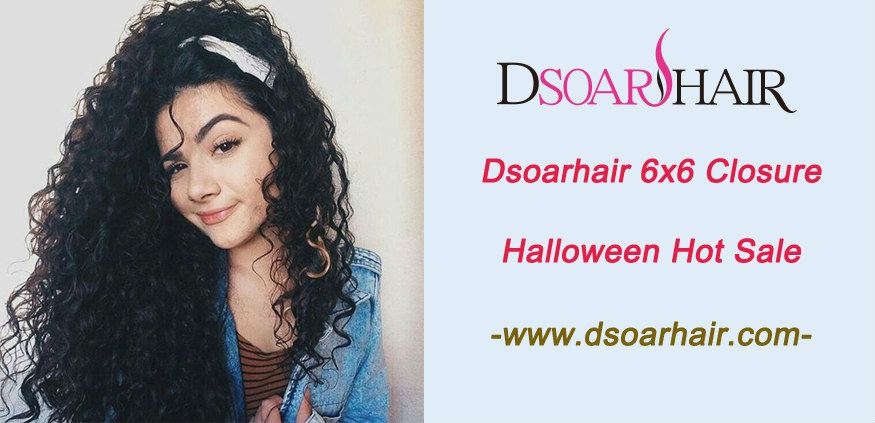 Dsoarhair 6x6 closure Halloween hot sale