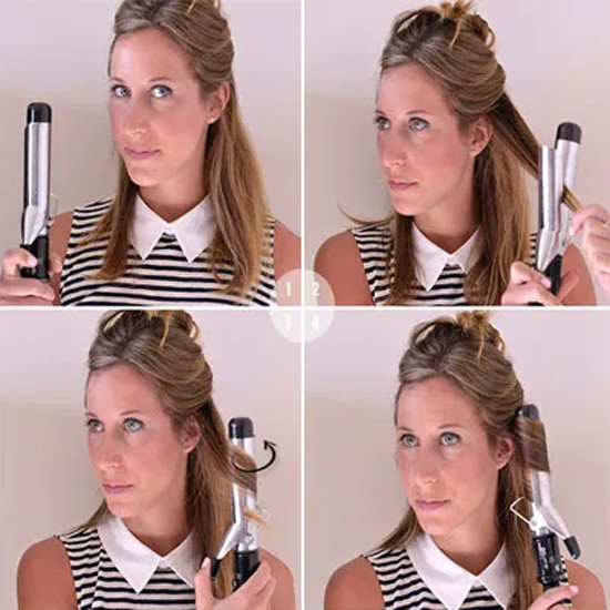 How to curl the body wave hair by a curling iron