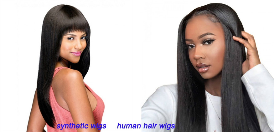 Human hair lace front wigs vs synthetic lace front wigs