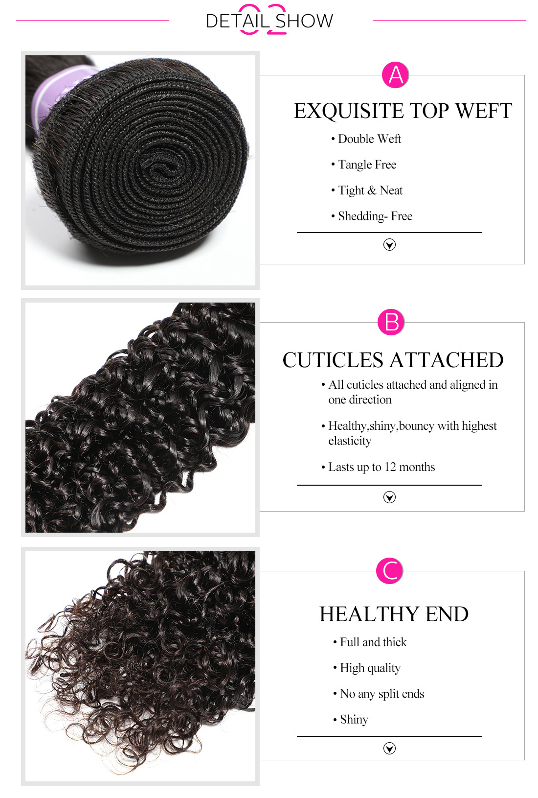 curly human hair bundles