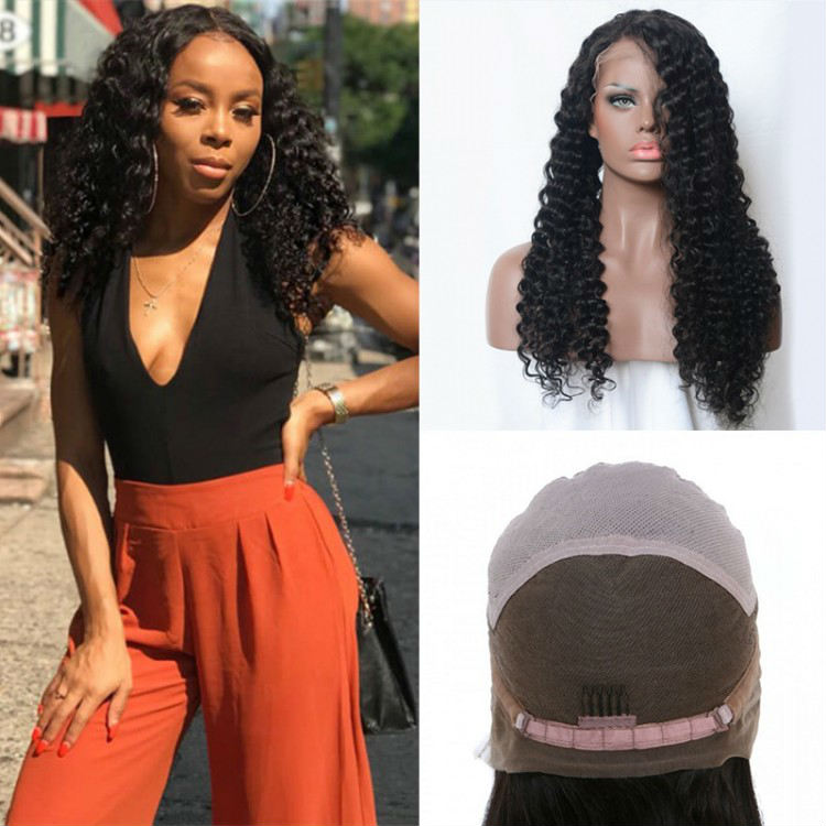 Jerry Curly Virgin Human Hair Lace Wigs
