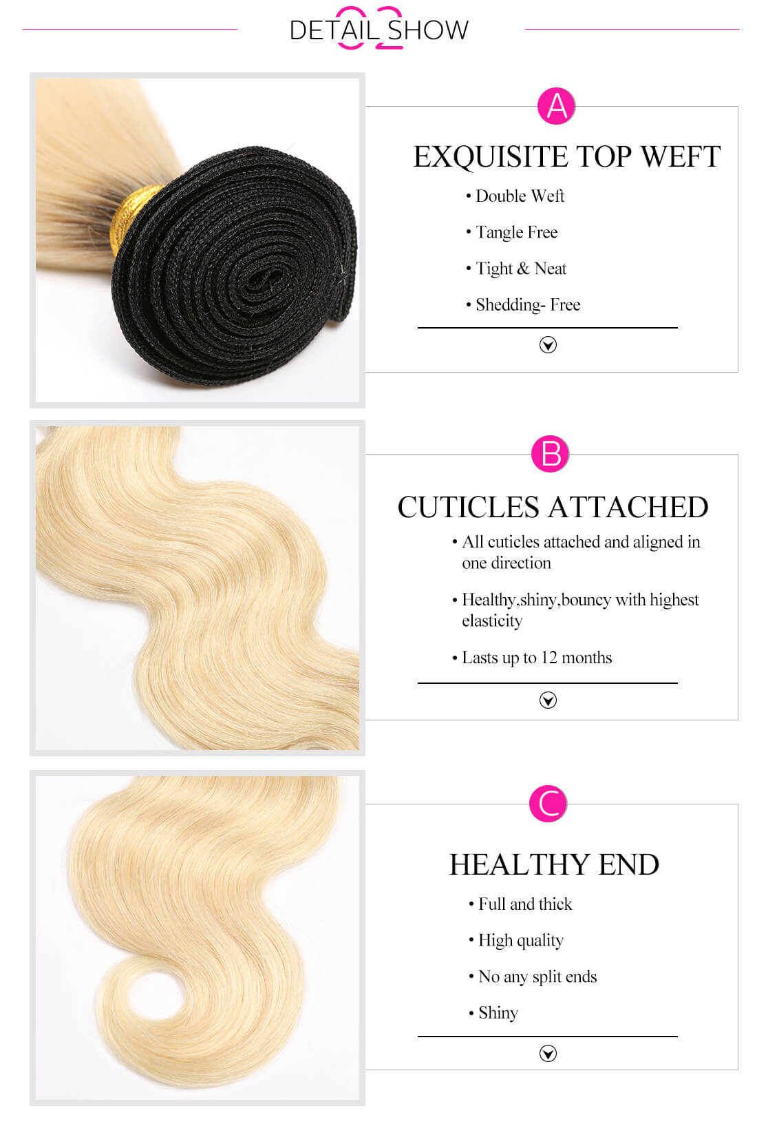Ombre Body Wave Colored Hair