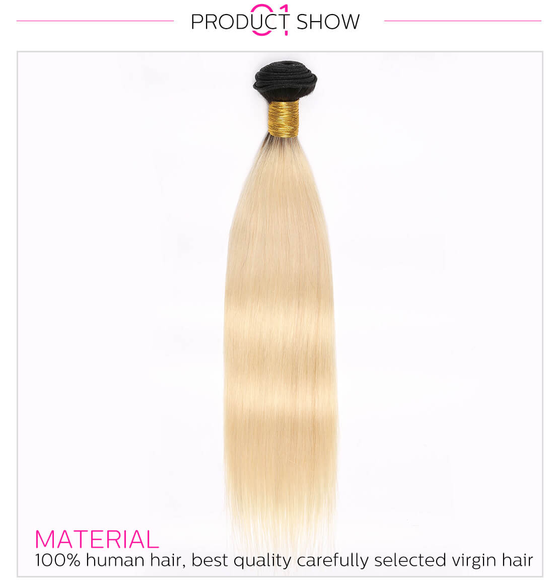 T1B/613 Ombre Blonde Human Hair Weave