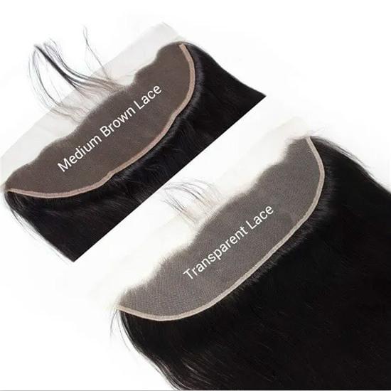 Transparent lace VS Medium brown lace
