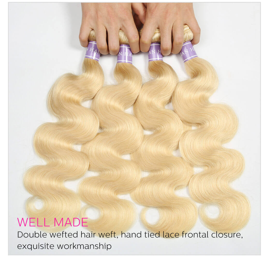 Blonde Body Wave Hair 4 Bundles