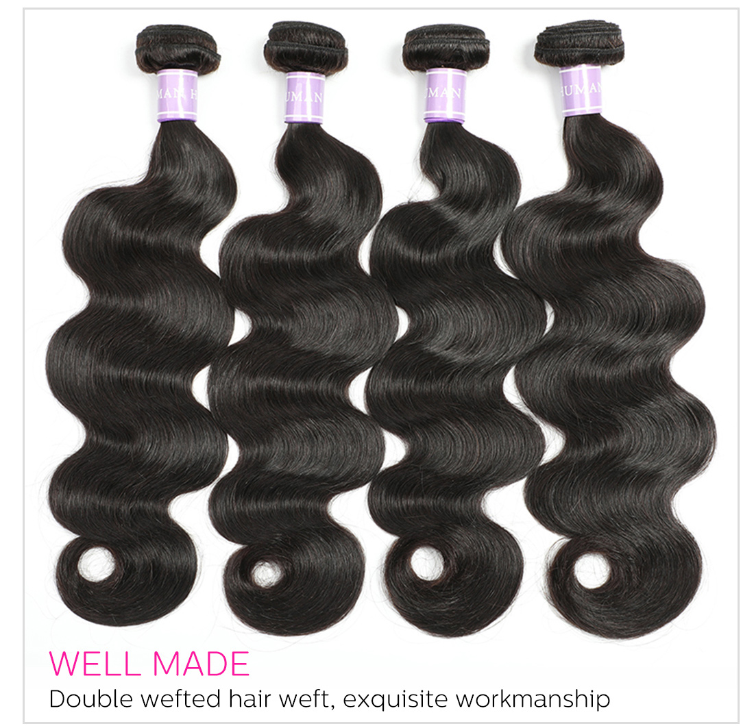 virgin remy boday wave hair weave