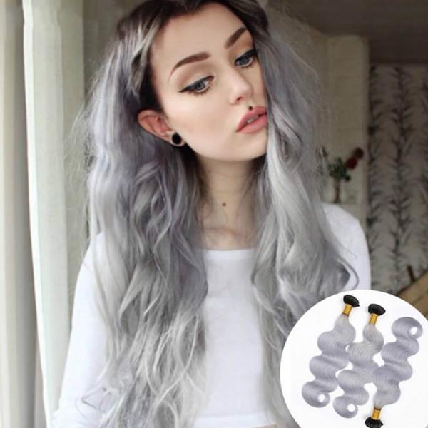 colored human hair bundles