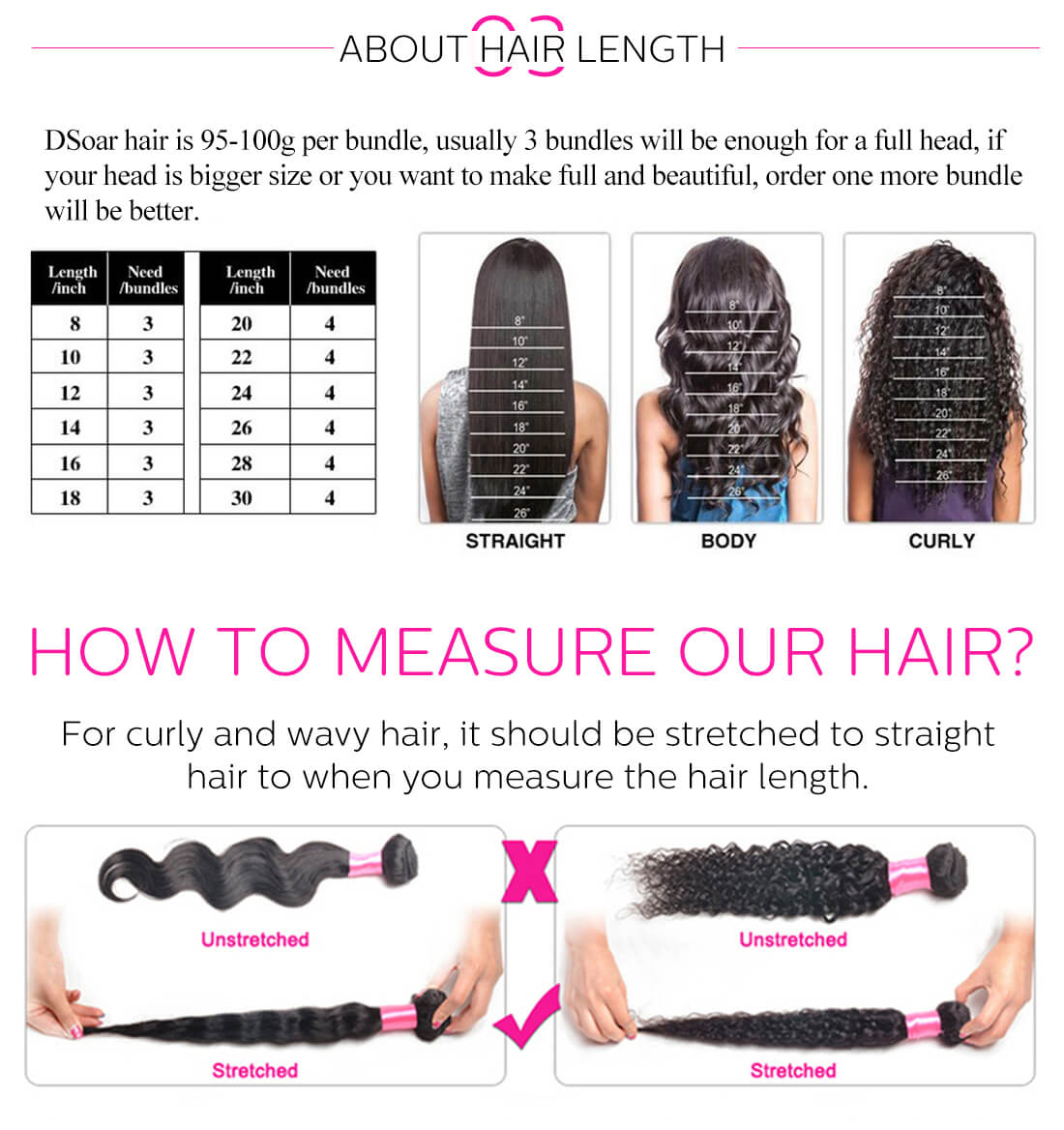 Malaysian deep wave 3bundles hair