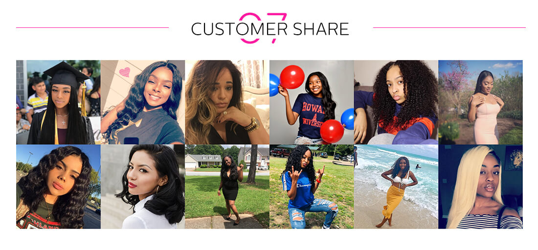 Virgin human hair Indian bundles customer share