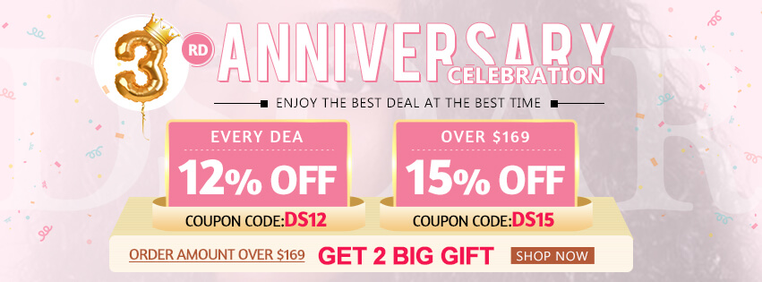 DSoar Hair 2019 3rd Anniversary Celebration Sale:Up To 17% OFF
