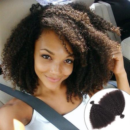 Malaysian Afro Kinky Curly Weave 2 Bundles Human Hair