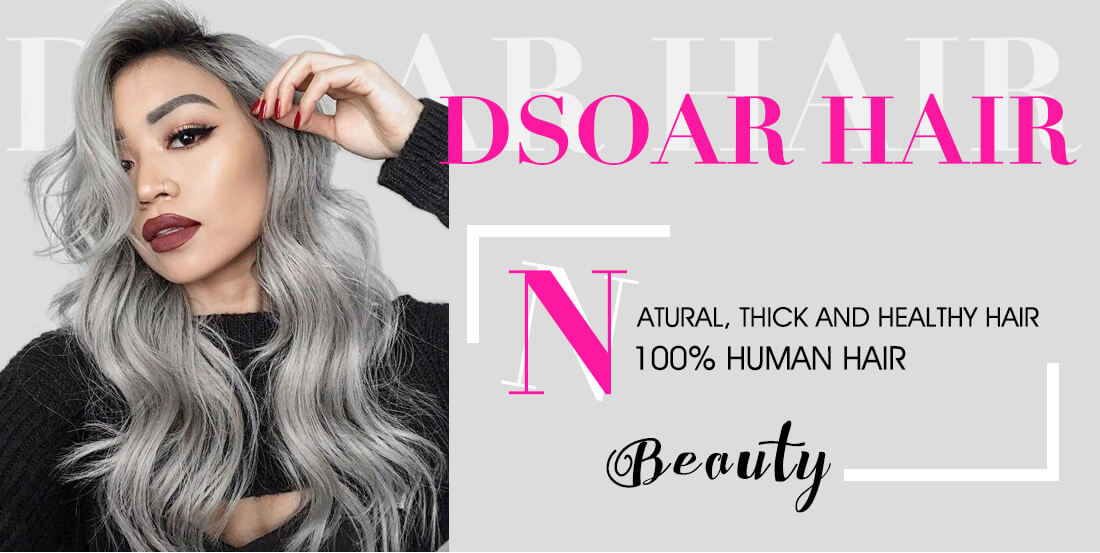 T1B/Grey Ombre Body Wave Colored Hair