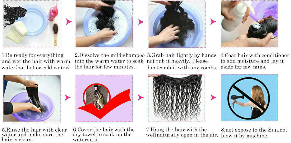 how to wash the transparent lace wig