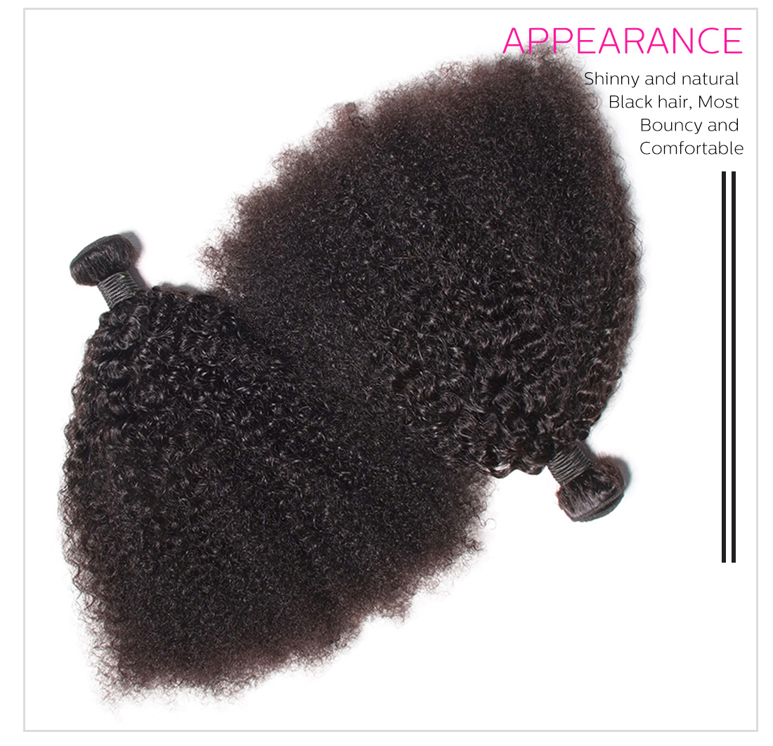kinky curly Afro weave