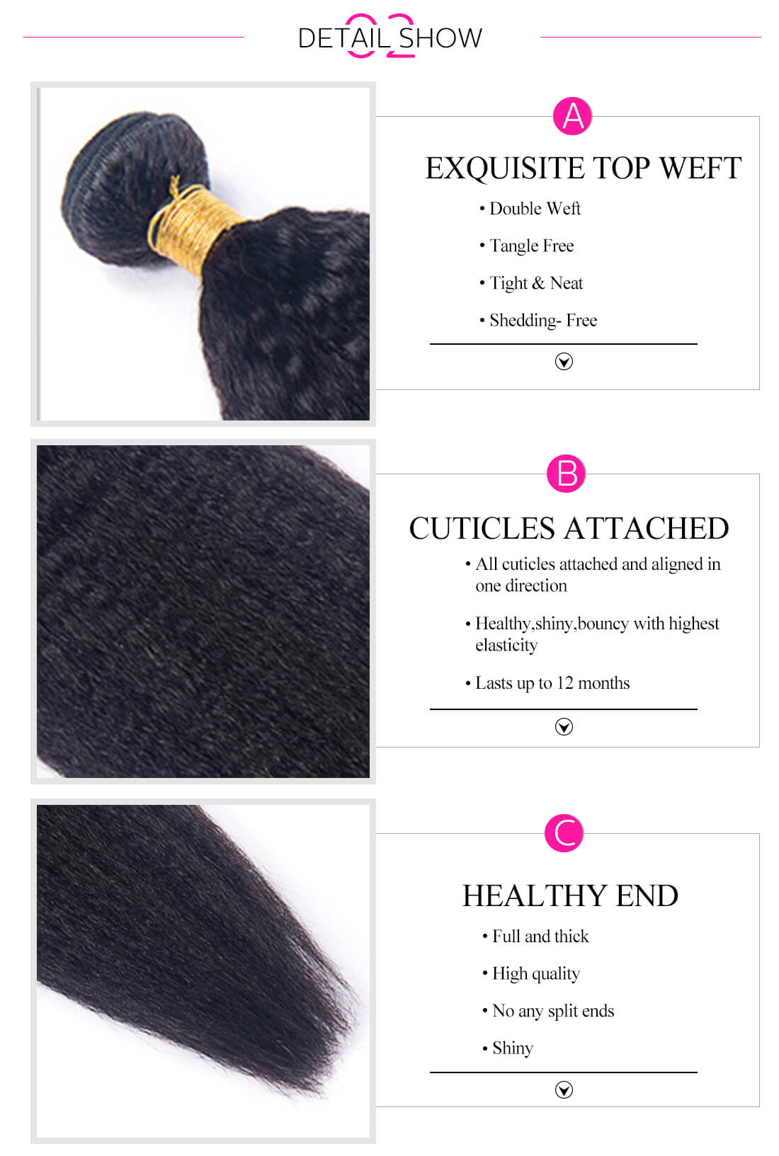 3 Bundles Human Hair Weave
