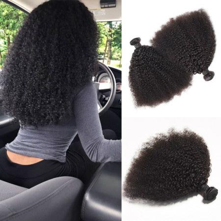 kinky curly weave human hair