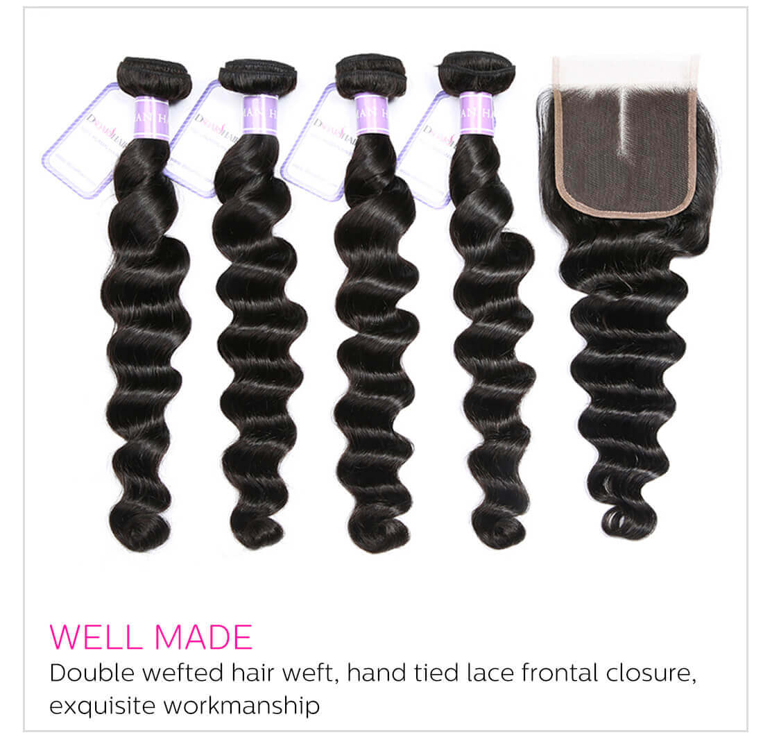 Dsoar Hair Loose Deep Virgin Hair Weave