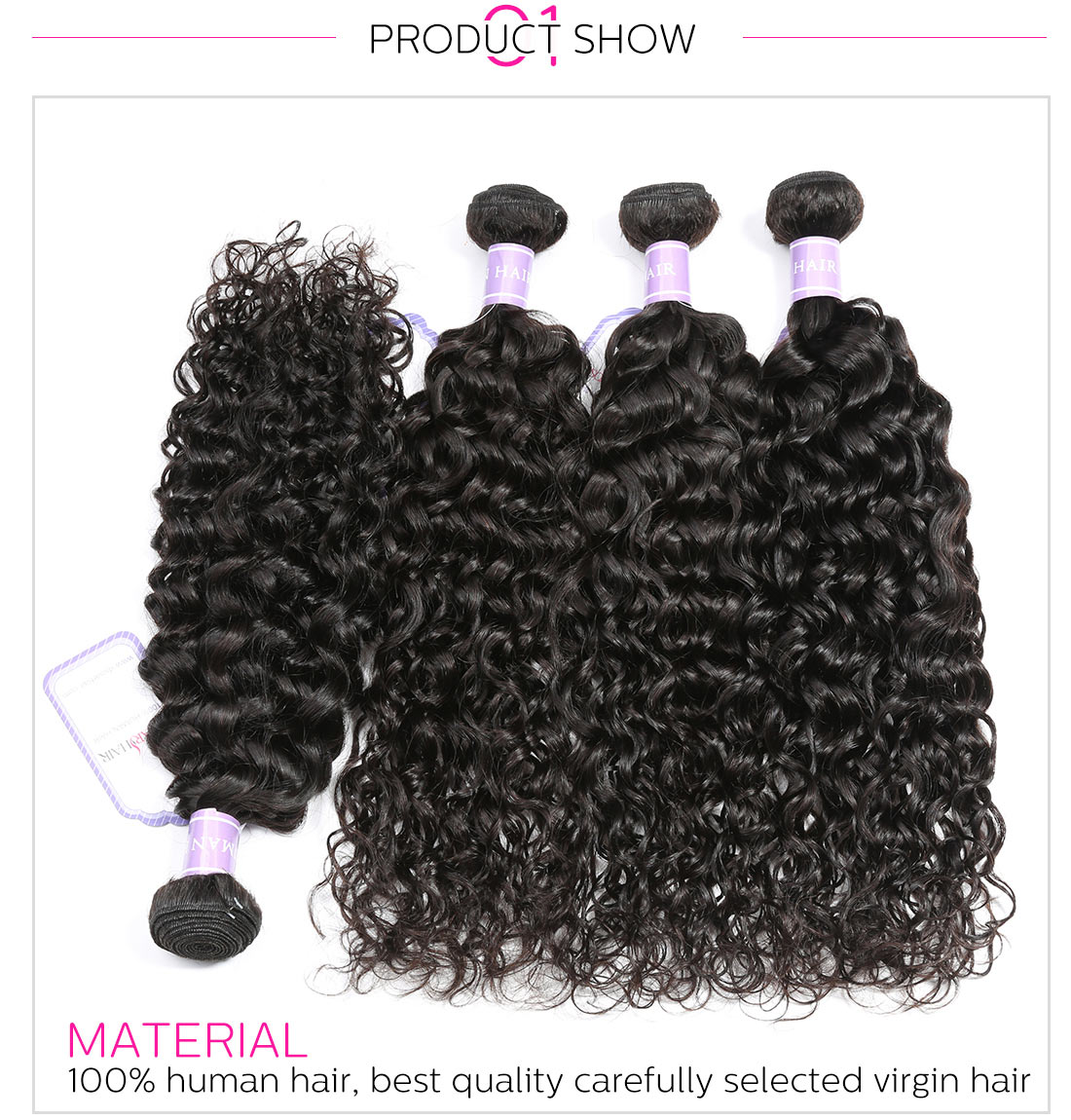 Brazilian Virgin Hair Natural Wave
