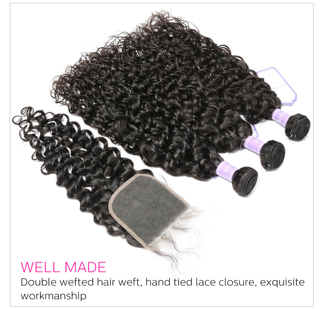 Lace Closure Free Part/MiddlePart/Three Part 4x4 Inch