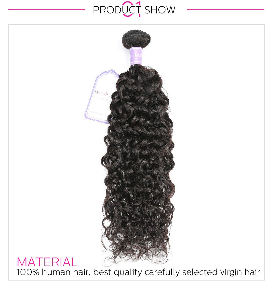 Natural wave hair weaving