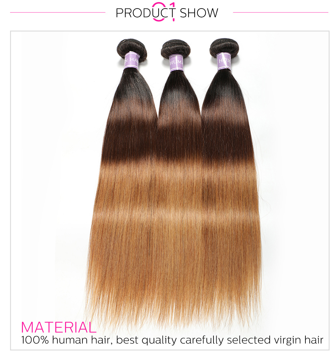 ombre Malaysian straight hair