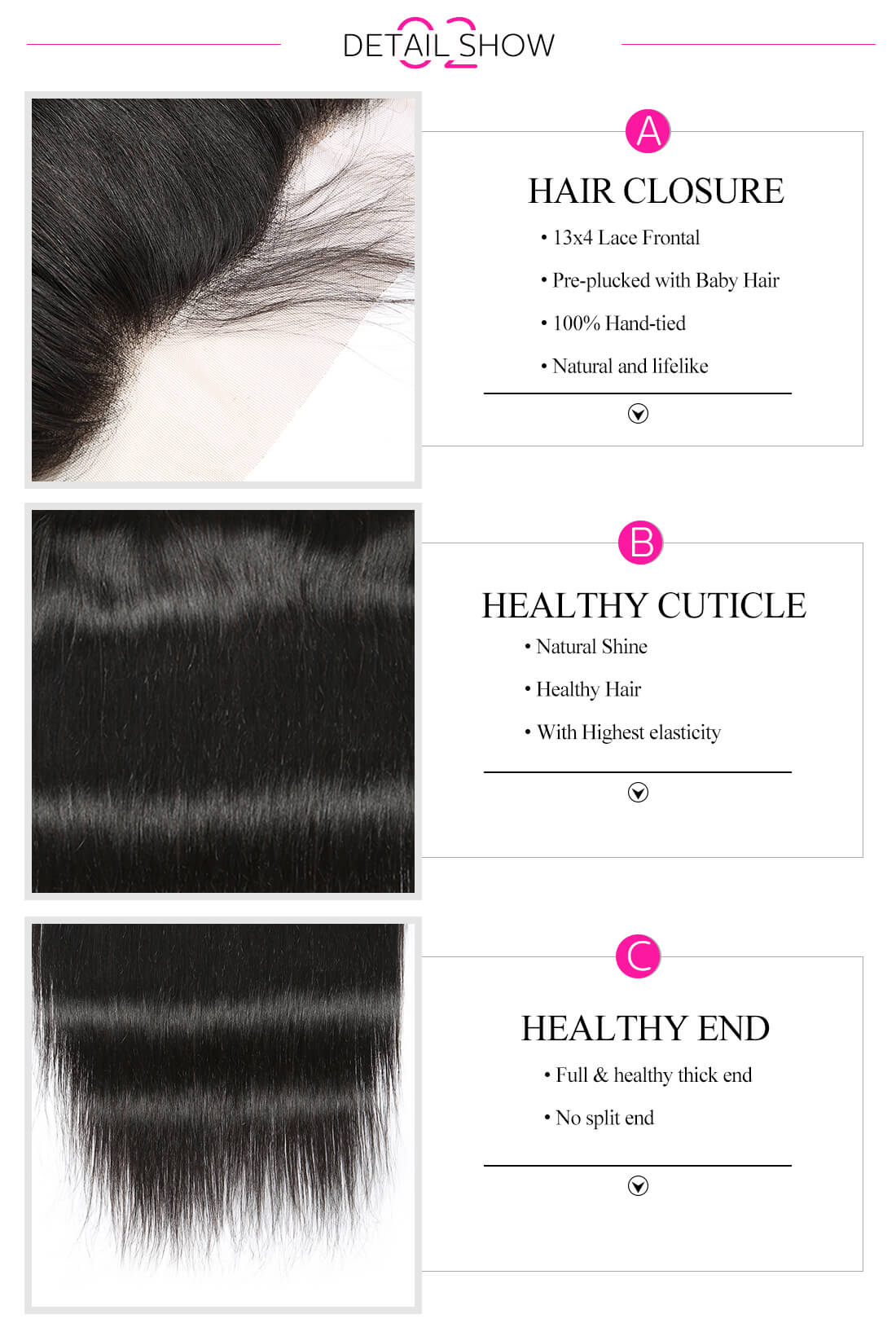 High quality lace frontal closure